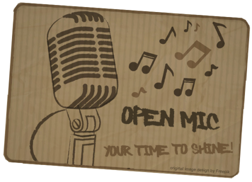 open mic graphic